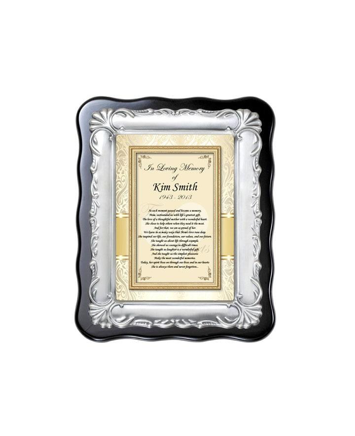 Memorial Gift Plaque Photo Frame Loving Memory Remembrance Bereavement+Free Wrap