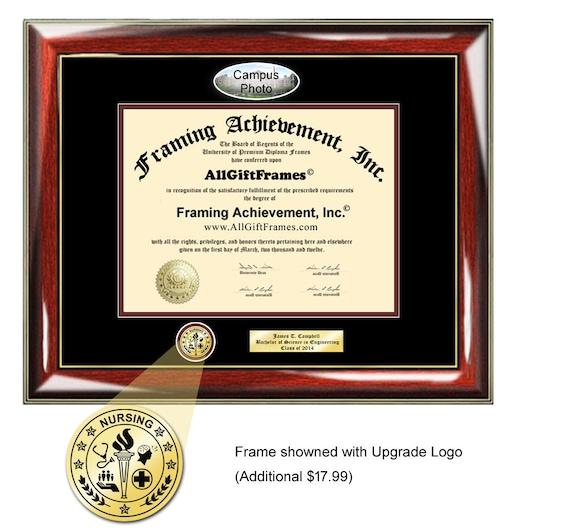 Miami University Diploma Frame Campus Picture Ohio Certificate Etsy