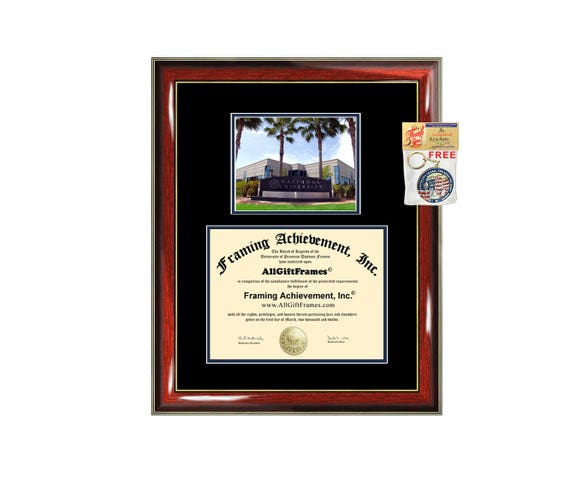 National University diploma frame campus certificate National | Etsy
