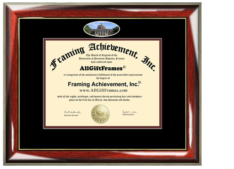 University of Rochester diploma frame campus photo certificate framing graduation document college degree plaque graduate document picture