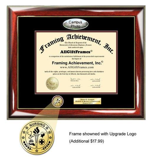 University of Texas Austin UTA diploma frame campus picture   Etsy