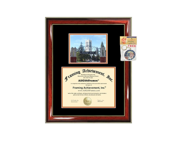 University Of Pacific Diploma Frame Campus Photo Certificate Etsy
