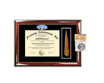 CBU California Baptist University diploma frame tassel box holder school campus photo CBU  bachelor master mba phd framing certificate