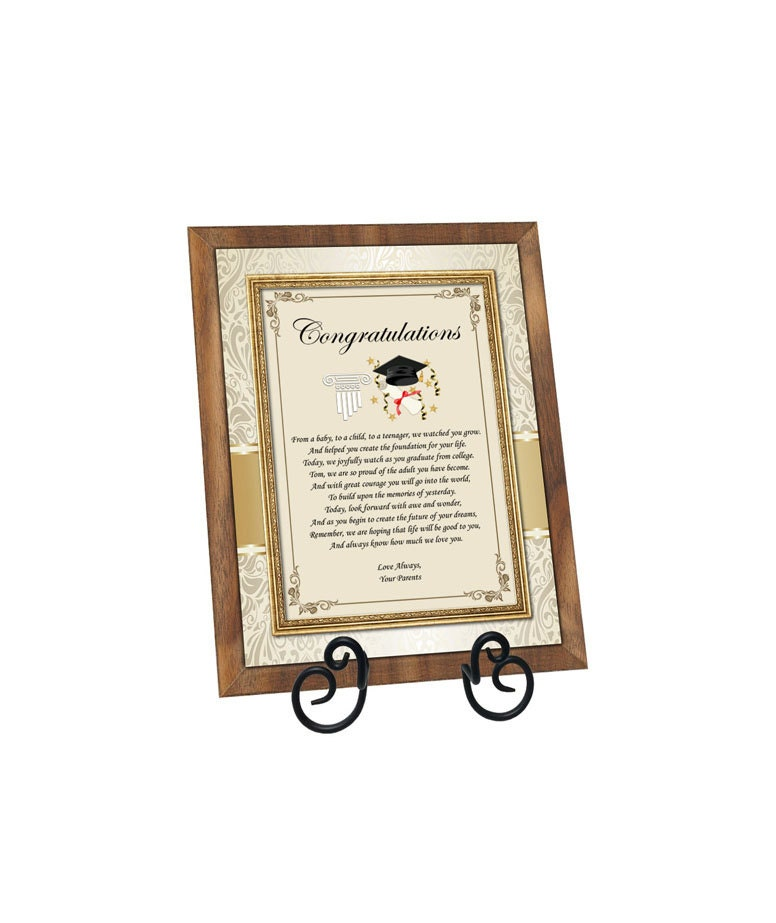 Graduation Gift Plaque Present For University Or High School College