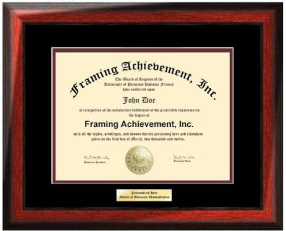 Estera de marco Universidad Diploma placas certificado Marcos