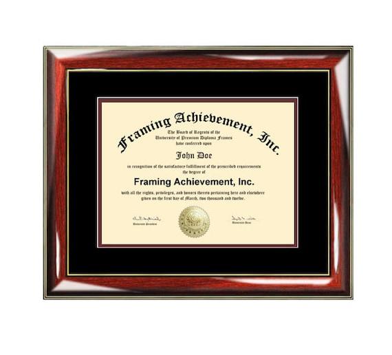 Certificate Frame University Diploma Frames High School Degree | Etsy