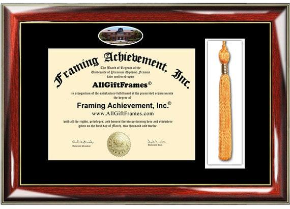 Marylhurst University diploma frame school tassel holder case | Etsy