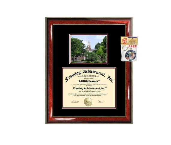 Lafayette College diploma frame campus certificate Lafayette   Etsy