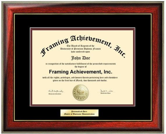 Engraved Certificate Frame College Diploma Frames Framing | Etsy