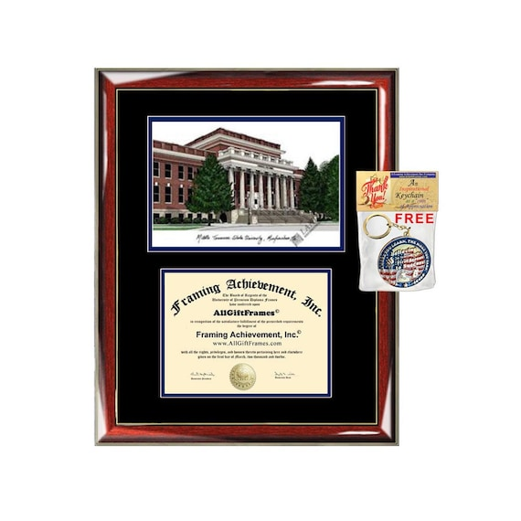 Mtsu Diploma Frames Middle Tennessee State University Etsy