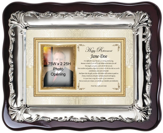 Personalized picture frame retirement gift best wishes | Etsy