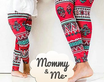 ONE SIZE Buttery Soft Always Brushed Christmas Leggings TC//O361