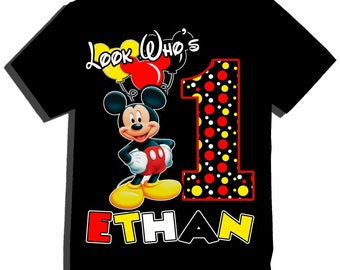Look Whos Mickey Birthday Shirt