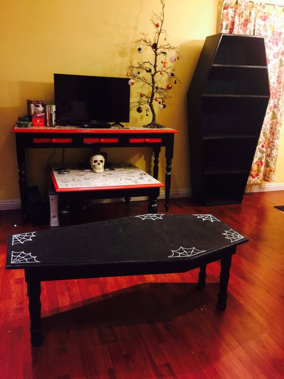 Coffin Table W/Spider Webs by CoffinUp