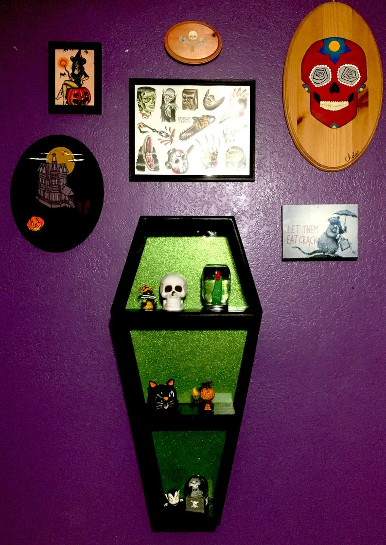 Coffin Tabletop and Wall Shelves by CoffinUp