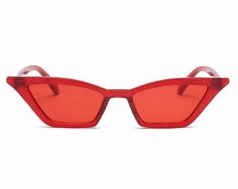 90's RED CATEYE SUNGLASSES