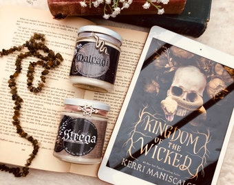 Emilia and Wrath Candle Duo (Kingdom of the Wicked Inspired)
