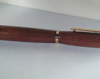 Gift idea mahogany handmade fountain pen