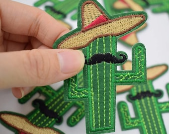 5 * 7 cm Embroidered cactus Scarecrow