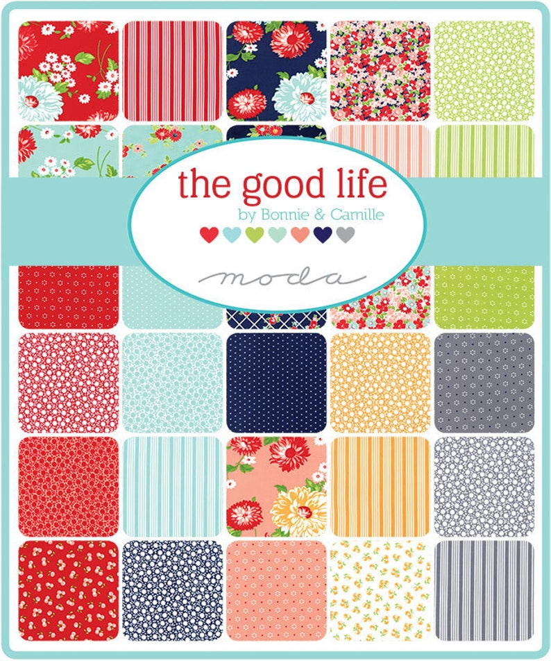The Good Life FAT QUARTER BUNDLE The Good Life Fat Quarter Pack 55150AB The Good Life Fabric by Bonnie /& Camille for Moda Fabrics