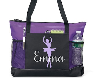 9bed437e41a 03- Girl Dance Tote, Personalized Dance Bag, Custom Dance Bag, Tween Dance  bag, Teen dance bag
