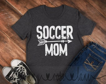 4e0f2b045 Distressed Soccer Mom Tshirt, Soccer Mom Shirt, Love Baseball Tshirt, Womens  Sports shirt, Soccer Spirit Shirt