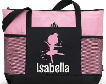4fc858fd73b 04- Girl Dance Tote, Personalized Dance Bag, Custom Dance Bag, Tween Dance  bag, Teen dance bag