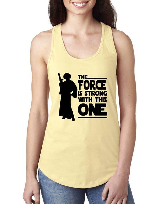 Princess Leia Shirt Disney Star Wars womens shirt Force is ... Old Princess Leia Shirts