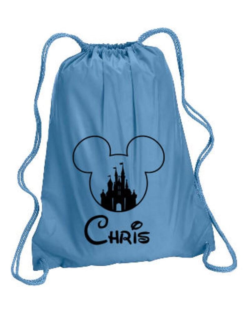 Castle Mickey Personalized bag Mickey Backpack Disney Trip  137e23ca6f98e