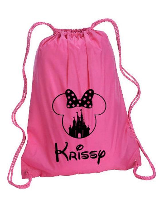 Castle Minnie Personalized bag Minnie Backpack Disney Trip  72333041373b1