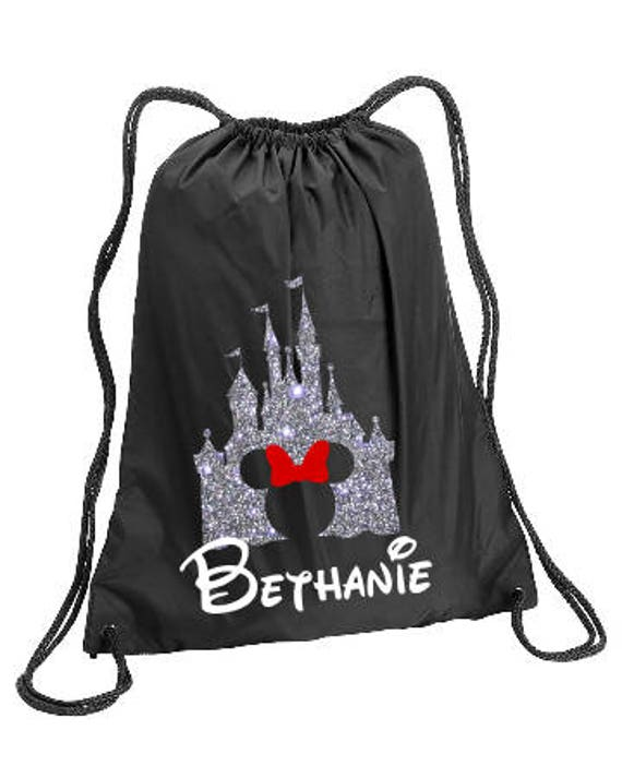 Minnie Castle Personalized bag Minnie Backpack Disney Trip  21a2ec6c19ed5