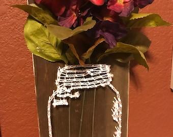 Jar strings art frame