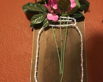 Mason Jar string frame