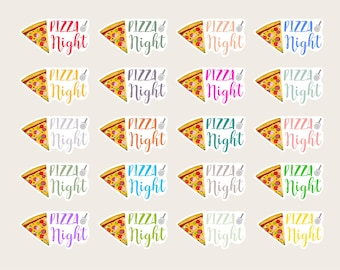 Pizza Night Stickers, Pizza Stickers, Pizza Planner Sticker, Pizza Planner, Pizza Time, Food Sticker, Meal Planning, Inkwell Press /NGT001
