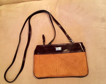 Vintage Brighton purse, cowhide and leather, crossbody, clutch