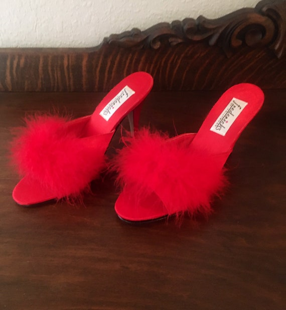 Frederick's of Hollywood Slippers, Red, Size 8, Vi