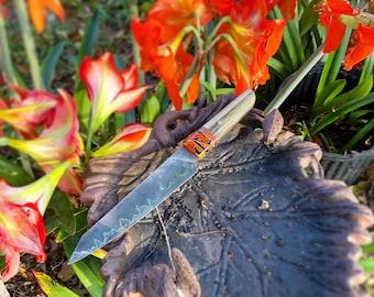 Handforged Damascus Chef knife (K-tip)