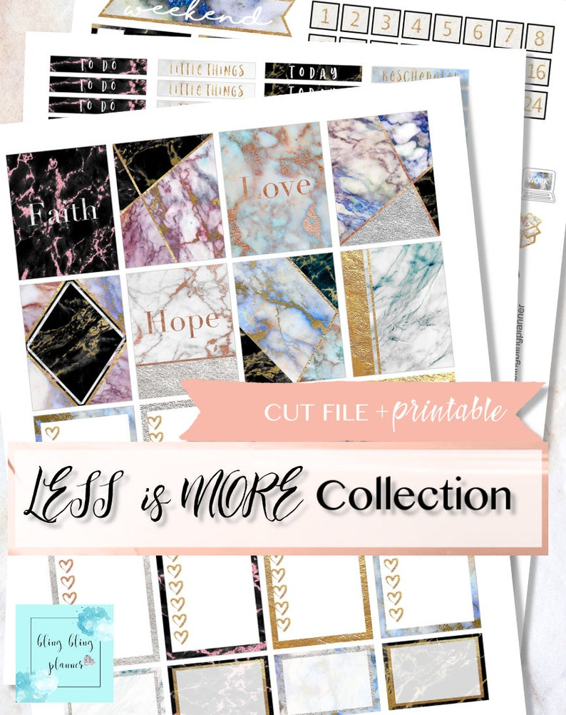 4ea84182cc2b4 MARBLE PLANNER STICKERS, Fall Weekly Kit, Marble Printable Planner  Stickers, Glitter Sticker Kit, 2 dollar Tuesday, sticker kit for ec, diy