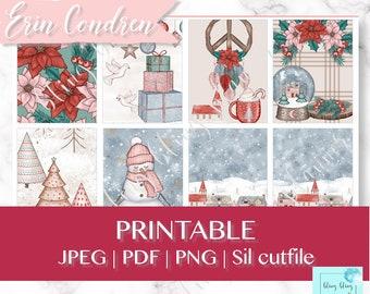 WINTER PRINTABLE planner sticker, Christmas planner stickers, printable planner stickers, snow weekly kit, printable winter planner stickers