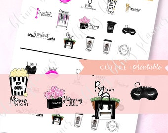 GENERAL PLANNER STICKERS, coffee planner stickers, printable beauty stickers, work stickers, self care sticker, functional planning stickers