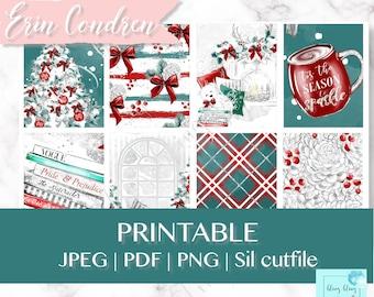 PRINTABLE CHRISTMAS KIT, Weekly Printable Planner Stickers, printable winter planner stickers, christmas planner sticker kit, classic xmas