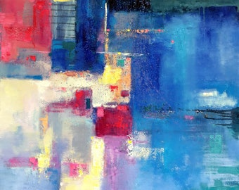 Original abstract oil painting on canvase 298
