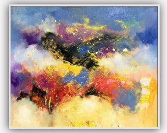 Original abstract oil painting on canvase 334