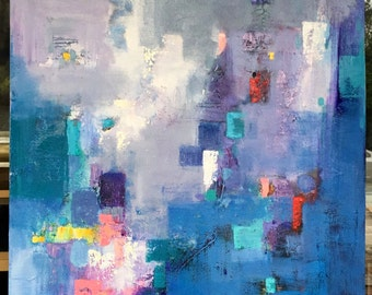 Original abstract oil painting on canvas:passion 185
