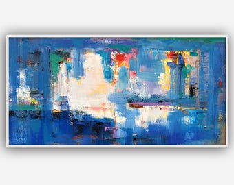 Original abstract oil painting on canvas:Light of the Soul
