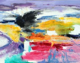 "Giclee Art Print,Office Art Print Office Decor:8x16""--24x48""  emotion abstract"