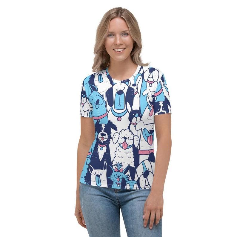 Dogs Pattern Women/'s T-shirt