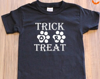 Youth Trick or Treat Paw Print