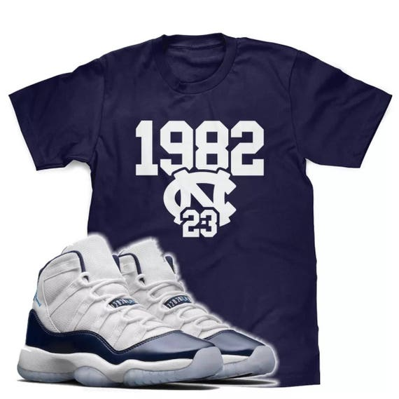 71c85356ca8a10 Win Like 82 Tee Designed to Match Air Jordan 11 Sneakers