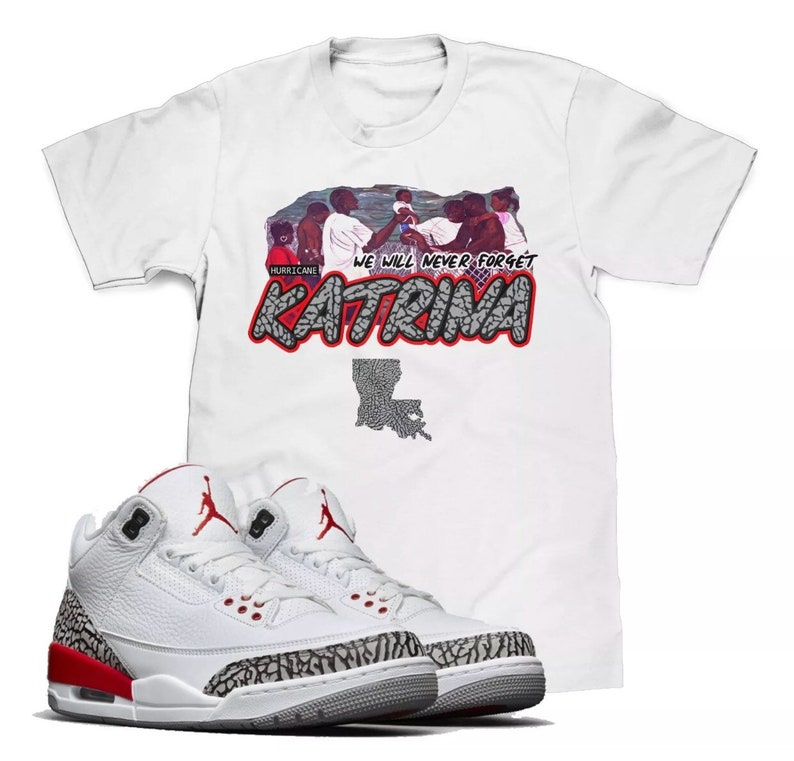 d5b2eb72c68 Hurricane Katrina T-Shirt To Match The Retro Air Jordan 3 | Etsy